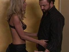 Blonde TS prostitute Juliette Stray anal