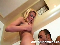 Naughty transsexual Agatha gets her tight shemale ass