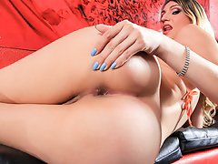 Alessa wants you to watch her rub & tug at her big fat cock!