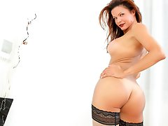 Latina shemale Susy swings her big fat cock and creams it !