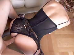 Tranny In Hot Black Lingerie Loves 2 Get Fucked Hard & Fast!