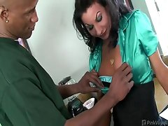 Billy's big long cock was being satisfied by Ariel's wet hot mouth,...