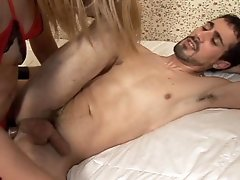 Horny Transexual Enjoy Fucking A Horny Dude In His Ass