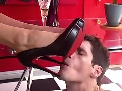 Tony is here to worship Aubrey's beautiful cock and feet. First she...