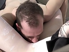 He was caught playing with this hot tranny's pantyhose and now she is...