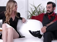 Tall, blonde and elegant transgirl Mandy, shows that she's more than...