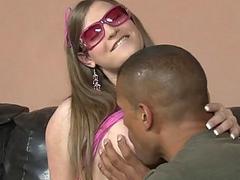 Busty TS Tiffany Starr interracial anal